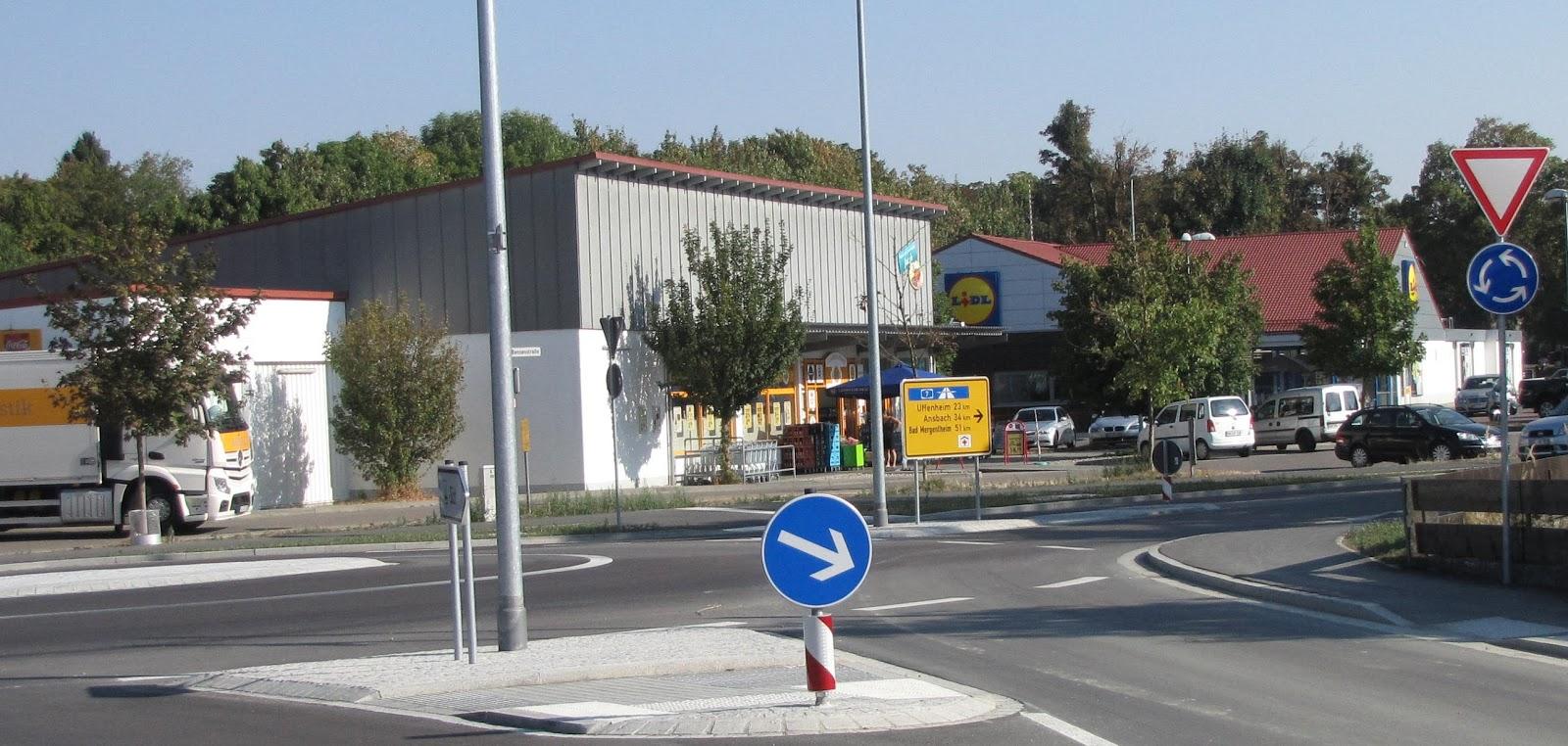 Rothenblog: Einkaufsmärkte in der Bensenstraße in Rothenburg