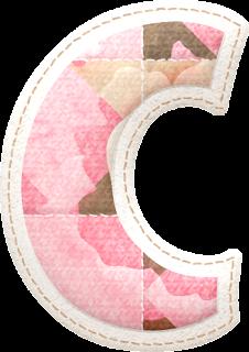 Alfabeto con Flores en Tonos Rosa.