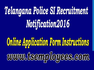 Telangana Police SI Online Application Form Instructions ts Police online application how to fill online application to sub inspector of police post in telangana state guide to fill online application online application website www.tslprb.in  instructions to fill telangana SI online application form minimum documents to fill online application photo maximum size minimum size signature size how to apply to telangana SI Jobs Telangana Police SI Online Application Form Instructions process to fill online application fee amount