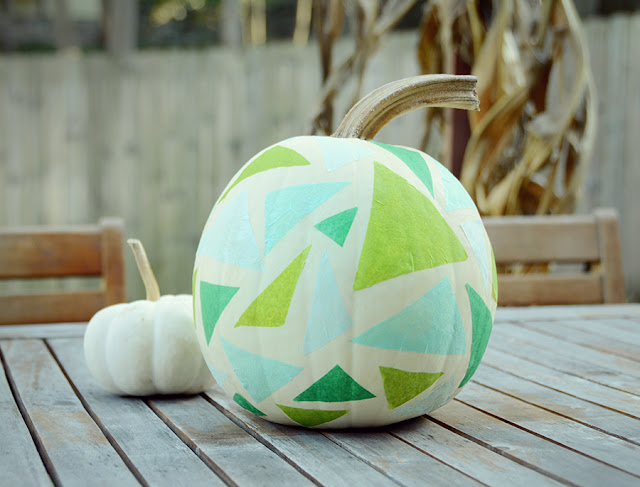 DIY Geometric Tissue Paper Pumpkin /// By Faith Towers Provencher of Design Fixation
