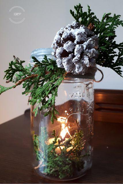 DIY Frosted Pinecones & Sticks