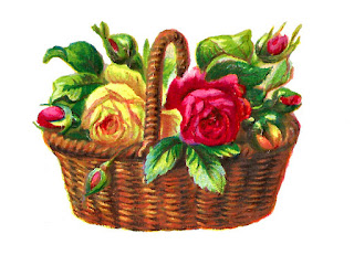 flower rose basket illustration digital