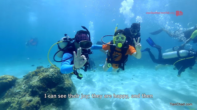 You can see their joy the moment they manage to dive underwater and enjoying the great view