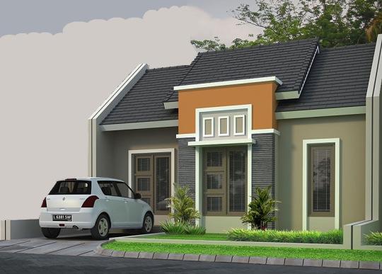 contoh rumah minimalis atap asbes