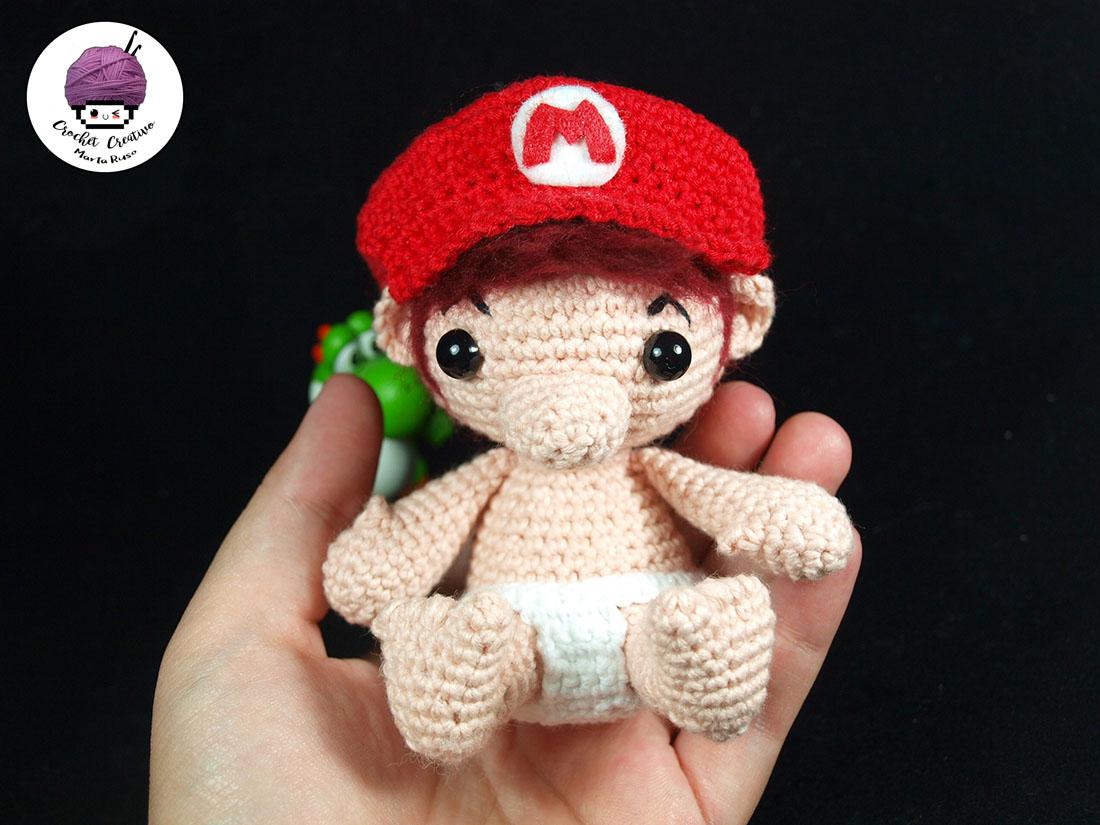 Marta Ruso Crochet Creativo: Mario Bebé amigurumi [PATRÓN GRATIS]