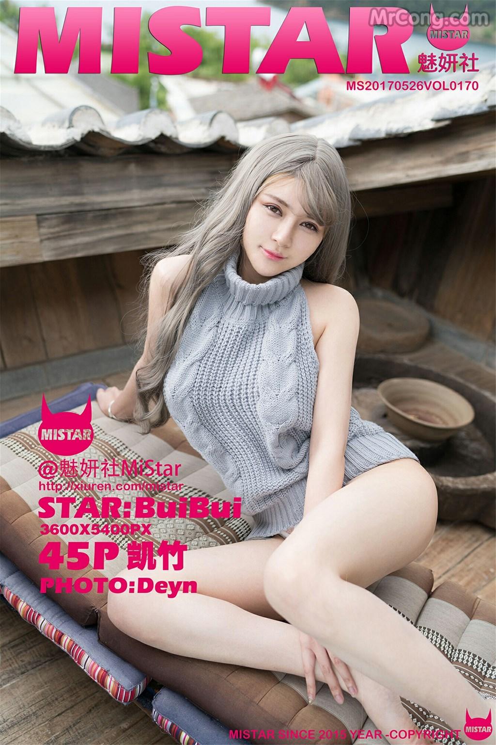 MiStar Vol.170: Người mẫu BuiBui (凯竹) (46 ảnh)