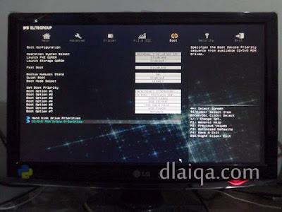 tampilan layar BIOS