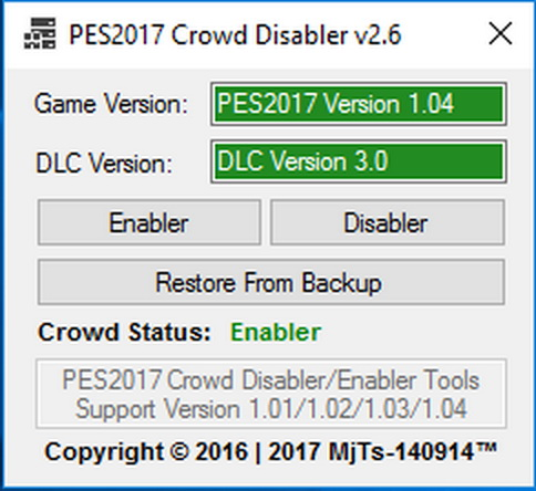 PES 2017 Crowd Disabler 2.6 by MjTs-140914