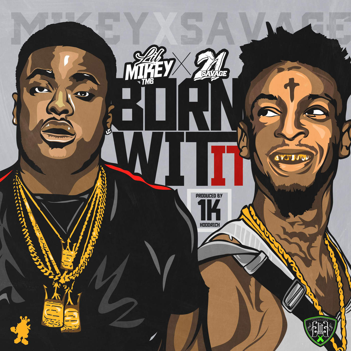 Lil Mikey TMB - Born Wit It (feat. 21 Savage) - Single Cover