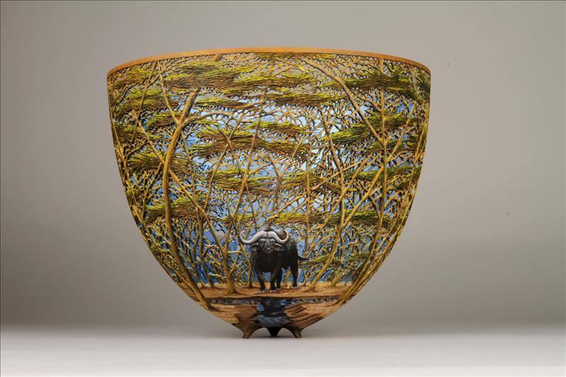 artystyczne misy drewniane