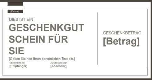 Geschenkgutschein vorlage f r word online zum ausf llen for Klassisches haushaltsbuch