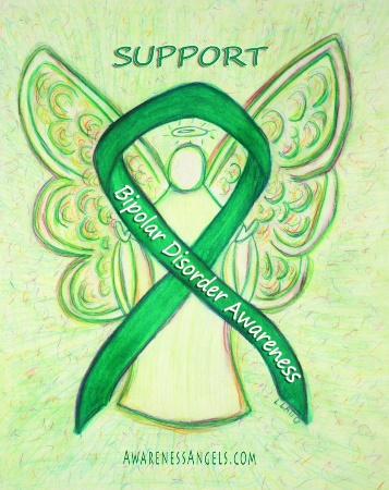 Bipolar Disorder Guardian Angel Awareness Ribbon Image Picture