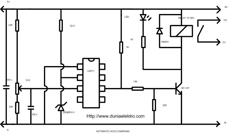 automatic accu charger circuit