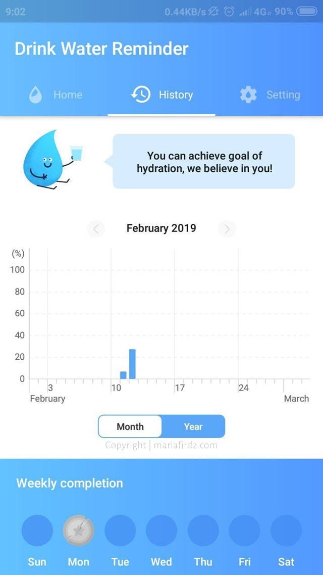 Didik Diri Konsisten Minum Air Di Musim Panas Dengan Aplikasi Telefon