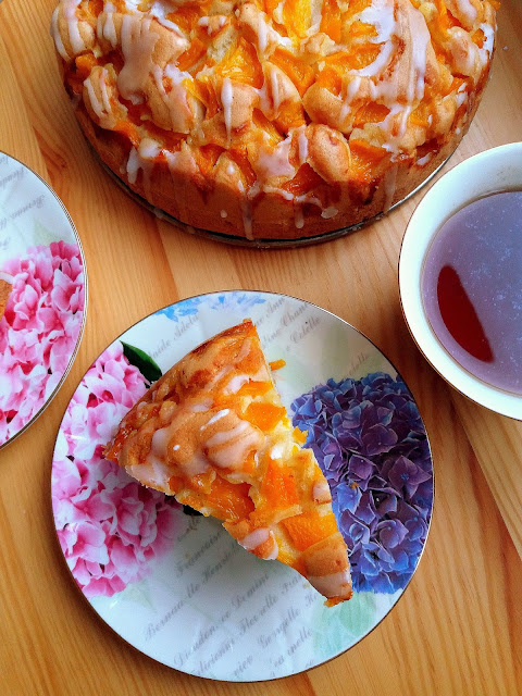 Proste ciasto z brzoskwiniami / Easy Peach Cake