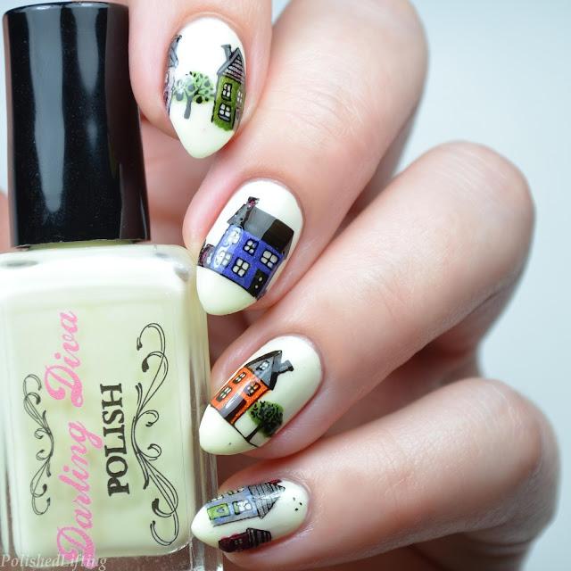 city themed nail art