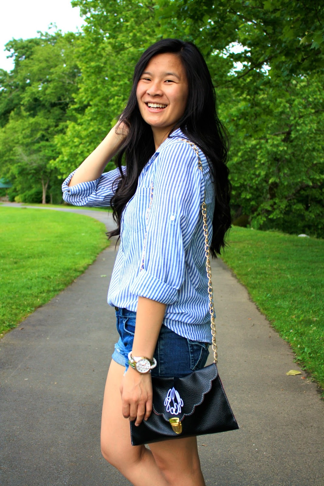 Styling a J.crew button down