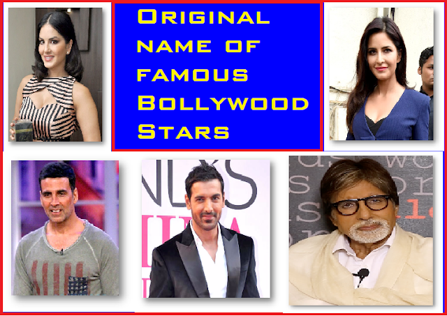 Original name of 20 famous Bollywood Stars