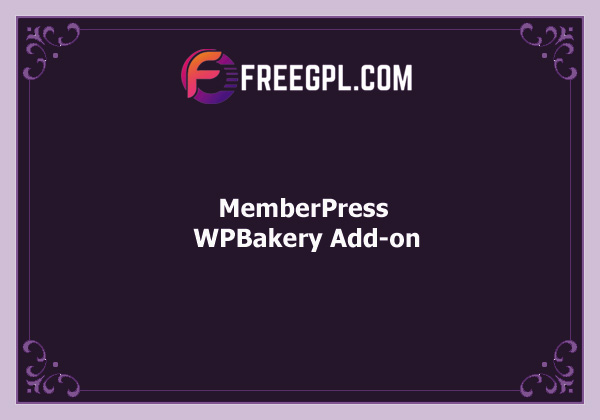 MemberPress WPBakery Page Builder Add-on Nulled Download Free
