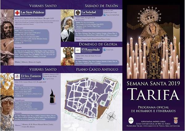Horarios e Itinerarios Semana Santa Tarifa (Cádiz) 2019