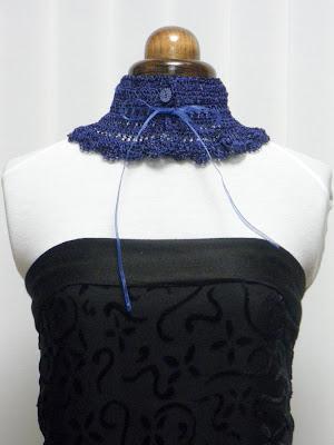 Cuello realizado en viscosa hecho a medida. VENDIDO