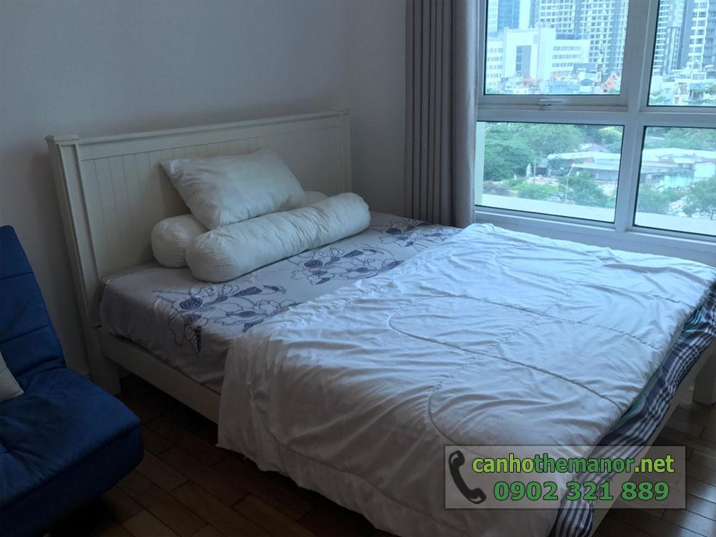 Cho thuê căn hộ 1PN full nội thất tầng 6 - The Manor 2 - giường ngủ