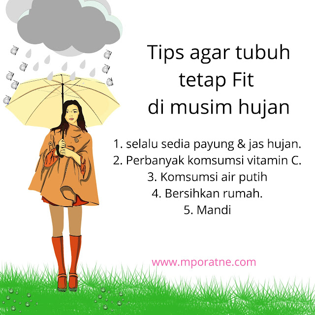 Tips tetap Fit di musim hujan