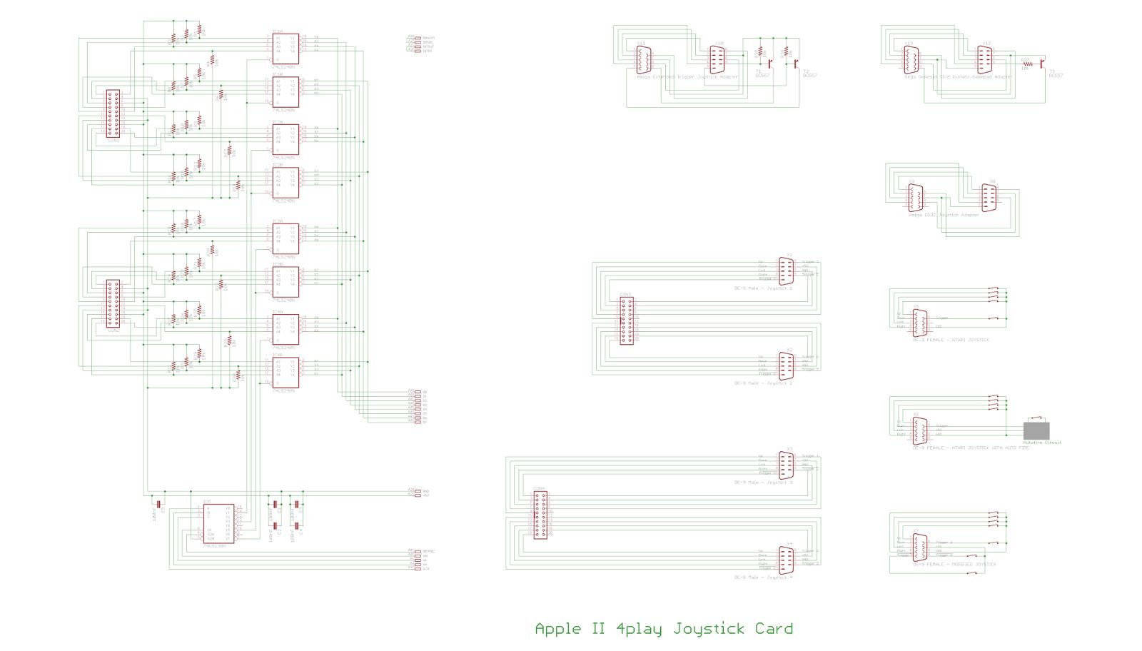 Apple II Projects: Apple II 4play Joystick Card