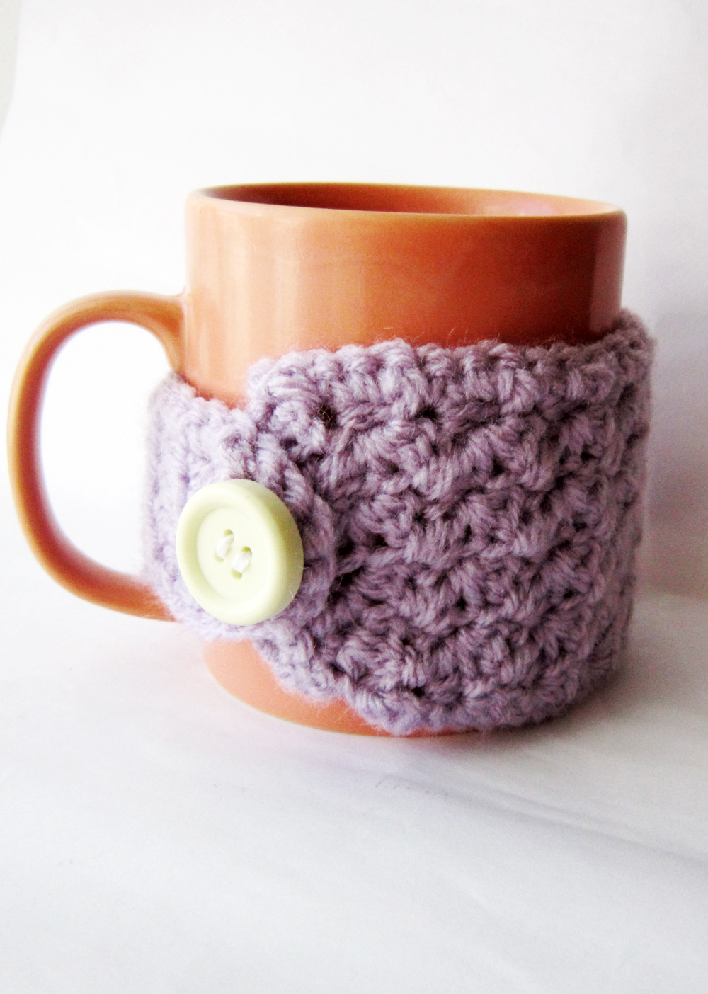 Easy crochet mug cozy - Free pattern - Akamatra