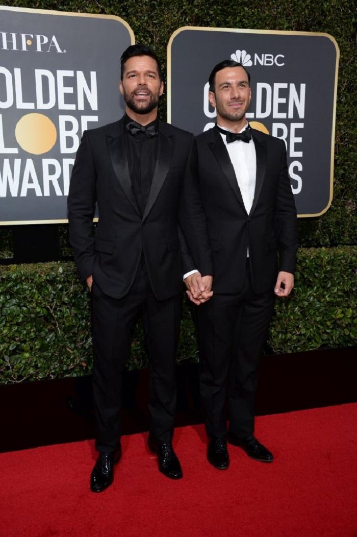 Ricky Martin și logodnicul său, Jwan Yosef, Globurile de Aur 2018