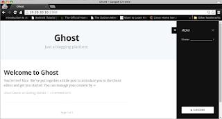 Membuat Blog Dengan Ghost Blogging Platform