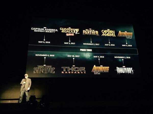 Kevin Feige announces Marvel Studios' Phase Three of its cinematic universe