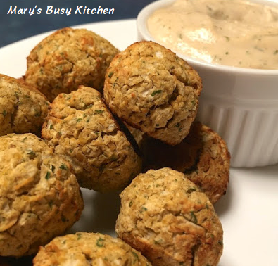 Mary's Busy Kitchen: Gluten Free Baked Falafel with Tahini Sauce