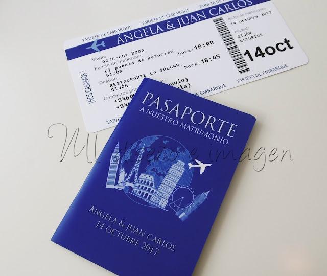 Invitaciones de boda pasaporte