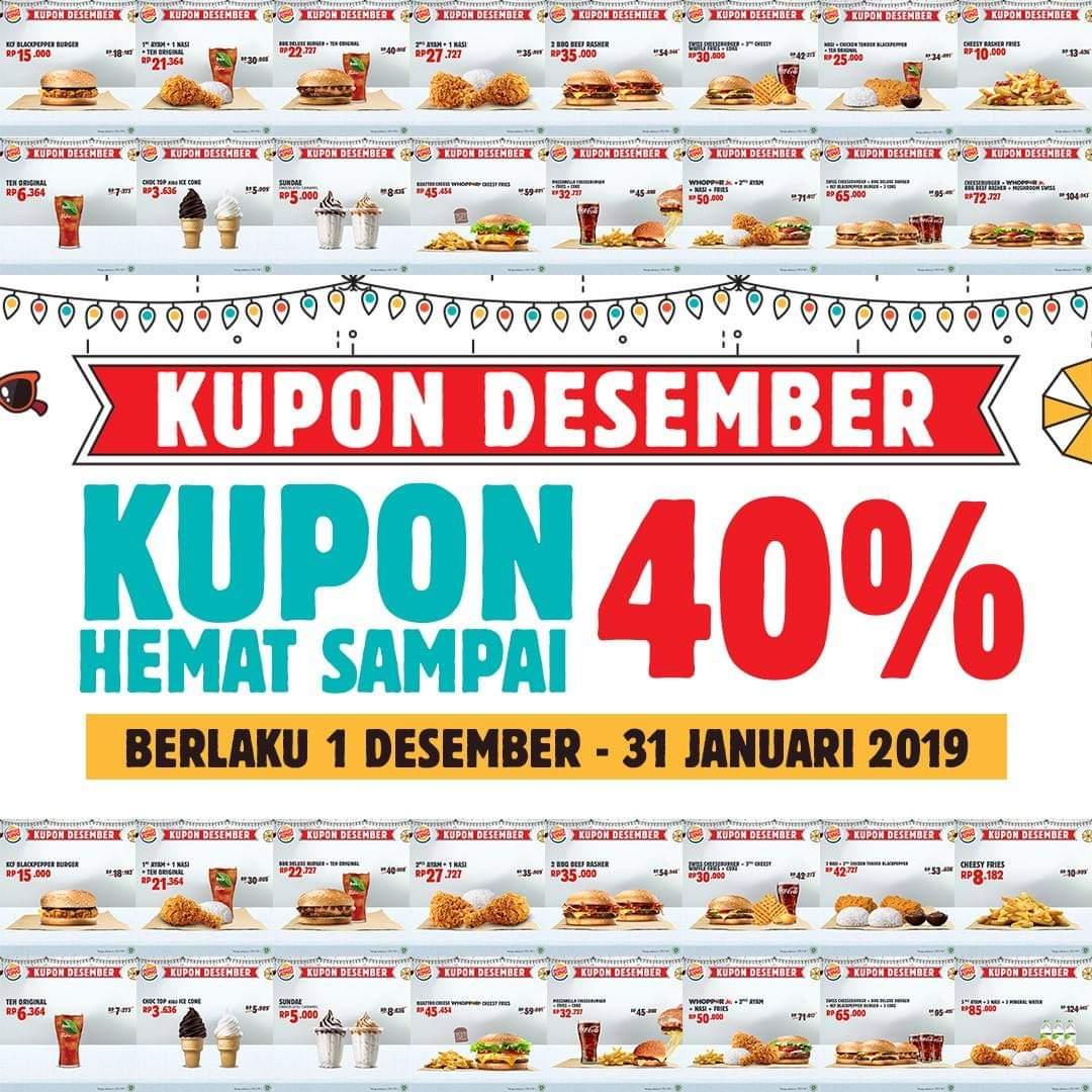 Promo Burger King Terbaru Kupon Desember Periode 1 Desember 2018 31 Januari 2019 News And Talking
