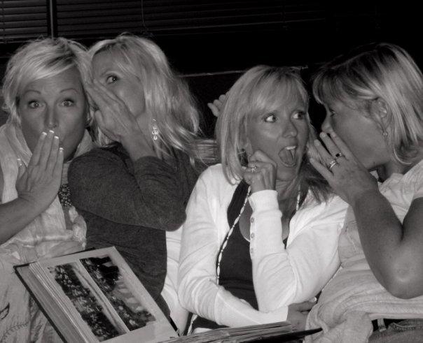 Blondes telling secrets