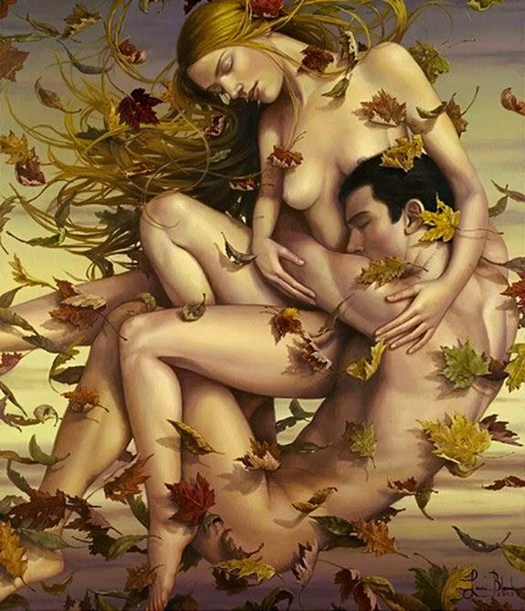 Uma Catarata de Abraços - Lauri Blank e suas pinturas cheias de emoções