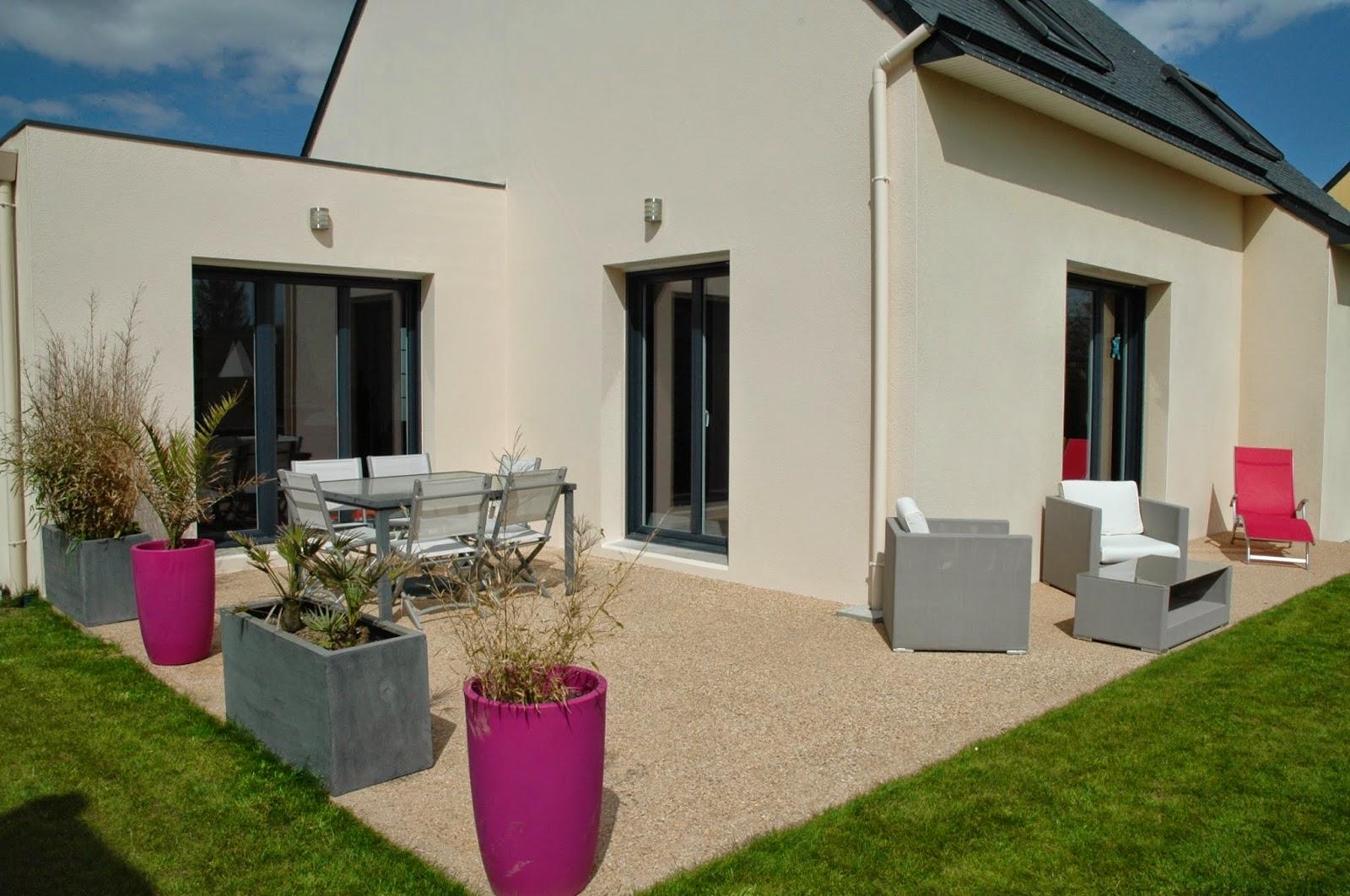 terrasse beton 30m2. Black Bedroom Furniture Sets. Home Design Ideas