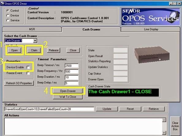 SENOR Engineering Data Base: [KB140002][CD][CASH DRAWER]Open