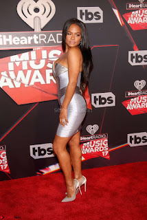 Christina Milian Huge  Popping out of her dress at iHeartRadio Music Awards WOW