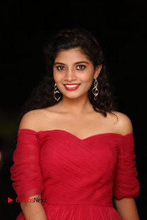 Actress Bindu Pictures in Red Dress at Attarillu Movie Press Meet 0006.JPG