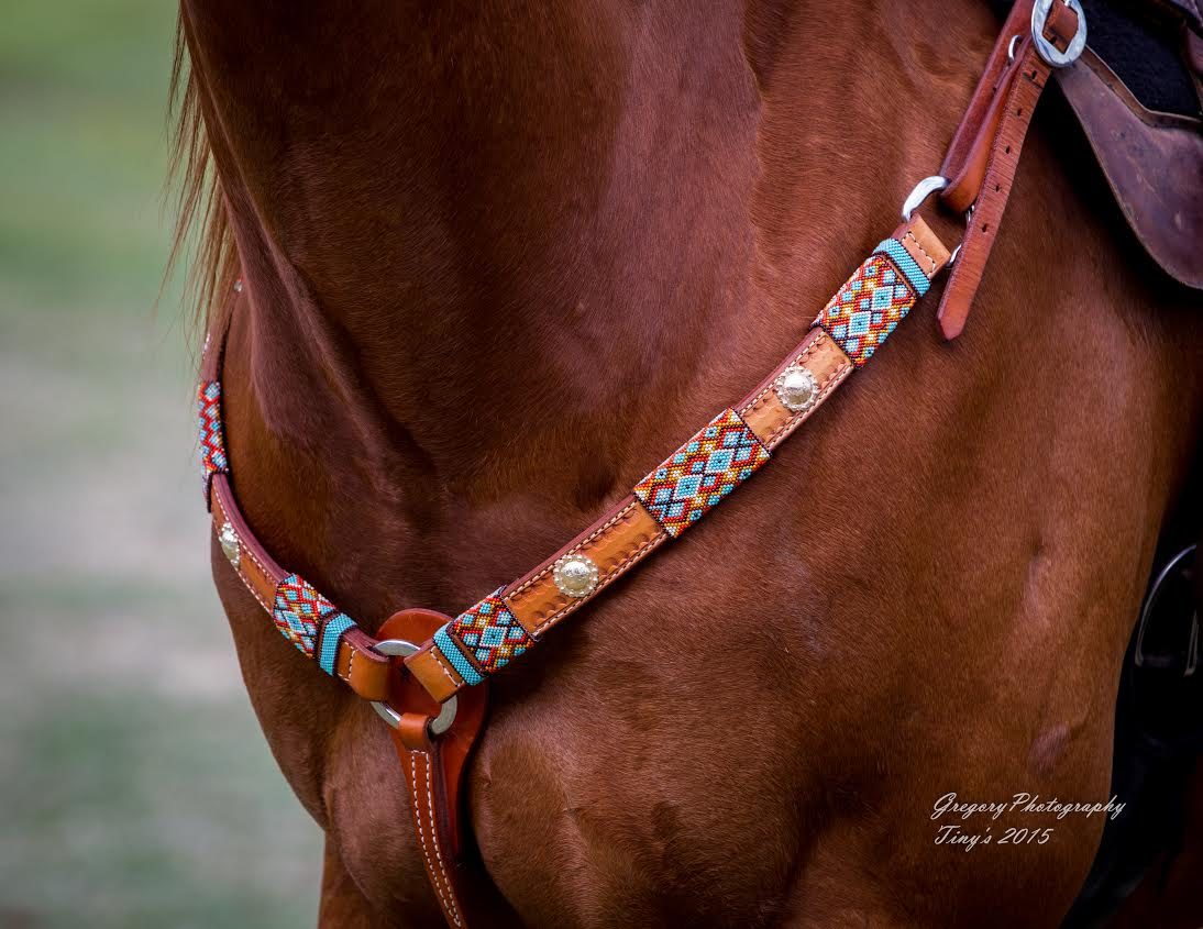 custom beaded breast collar