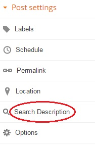 post settings Search Description