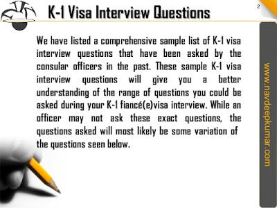 K-1 Visa Interview Quesstions