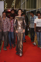 Actress Catherine Tresa in Golden Skin Tight Backless Gown at Gautam Nanda music launchi ~ Exclusive Celebrities Galleries 115.JPG
