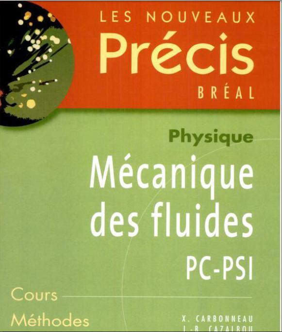 pr u00e9cis m u00e9canique des fluides psi