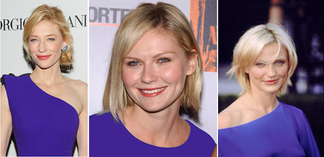 Блондинки в ярко-синих платьях