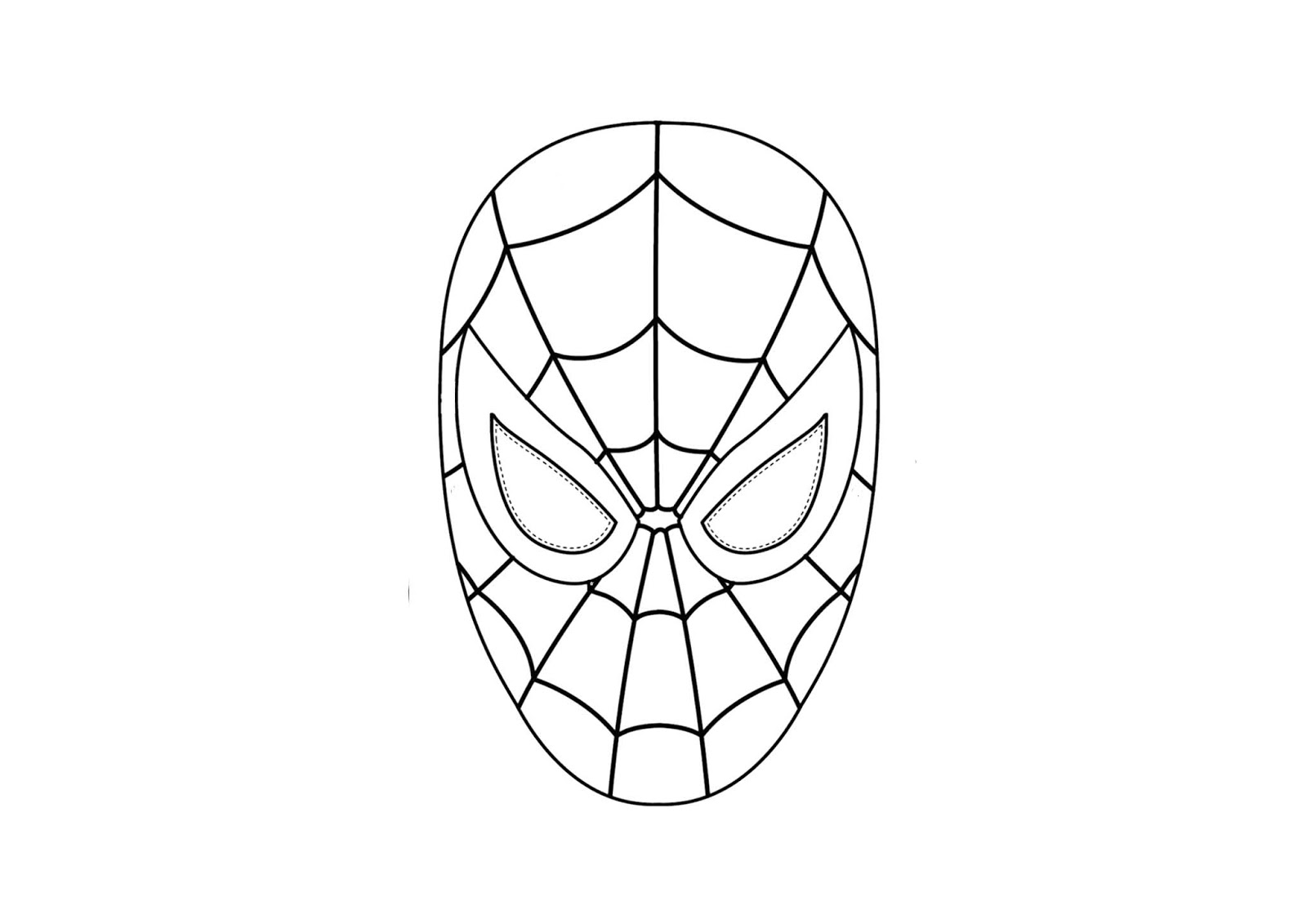 How To Draw Spiderman Easy Coloring Pages For Kids