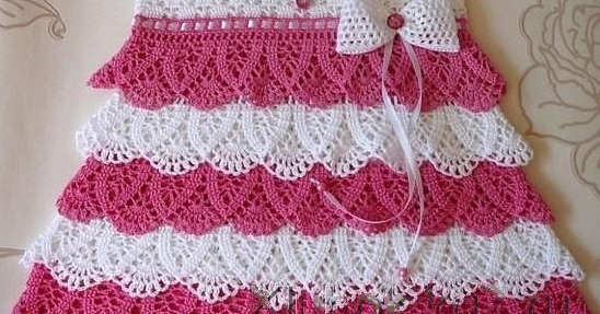 Crochet Baby Dress Set Pattern : Perfect crochet baby dress with ruffles - step by step ...